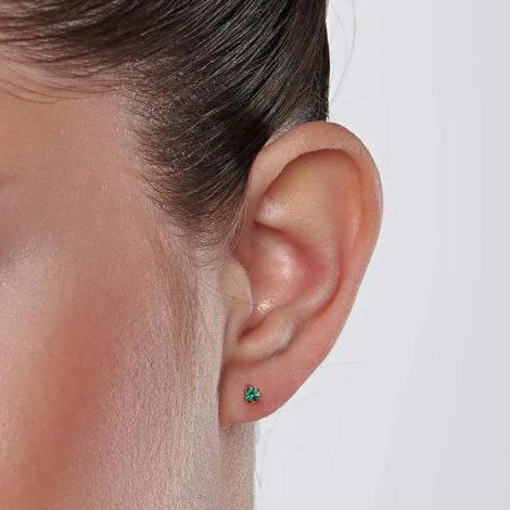 526434 brinco zirconia solitaria ponto de luz verde colecao curacao blue marca rommanel loja revendedora brilho folheados 7
