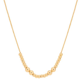 532034 colar bolinhas banhado a ouro colecao curacao blue marca rommanel loja revendedora brilho folheados