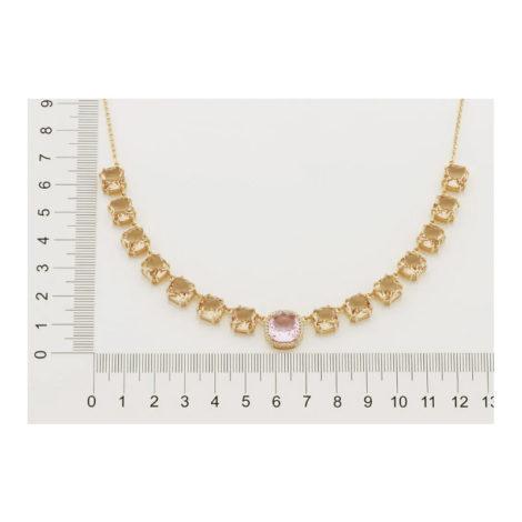 532036 gargantilha elo portugues cristais rosa e rose curacao blue marca rommanel loja revendedora brilho folheados. 2