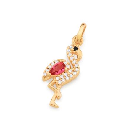 542234 pingente flamingo cravejado com zirconias curacao blue marca rommanel loja revendedora brilho folheados 5