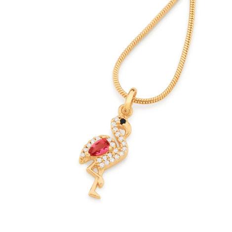 542234 pingente flamingo cravejado com zirconias curacao blue marca rommanel loja revendedora brilho folheados 6