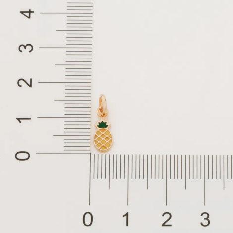 542235 pingente dourado formato abacaxi aplicacao de resina colecao curacao blue marca rommanel loja revendedora brilho folheados 5