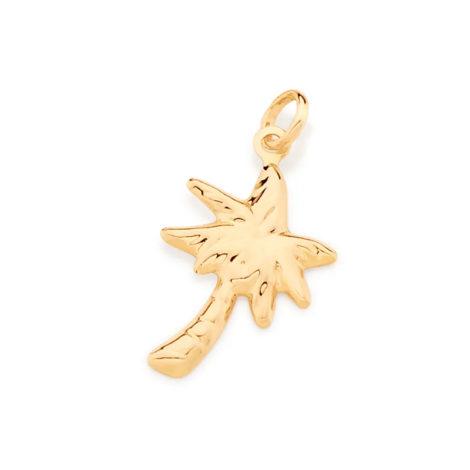 542237 pingente coqueiro banhado a ouro colecao curacao blue marca rommanel loja revendedora brilho folheados 5