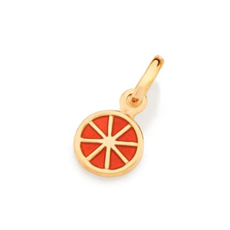 542240 pingente laranja aplicacao em resina curacao blue marca rommanel loja revendedora brilho folheados 5