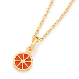 542240 pingente laranja aplicacao em resina curacao blue marca rommanel loja revendedora brilho folheados 6