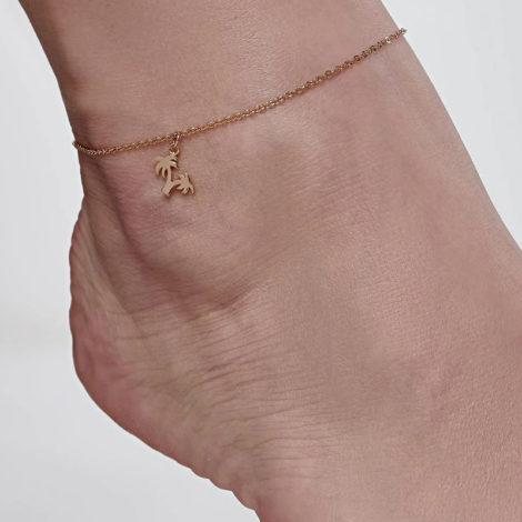 551653 tornozeleira coqueiros banhado a ouro colecao curacao blue marca rommanel loja revendedora brilho folheados foto modelo 1