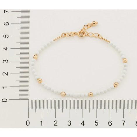 551655 pulseira bolinhas brancas intercaladas com bolinhas douradas colecao curacao blue marca rommanel loja revendedora brilho folheados 3