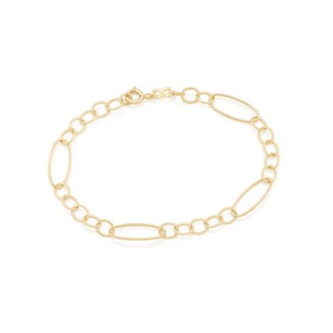 551657 pulseira formada por elos pequenos intercalados por elos grandes marca rommanel loja revendedora brilho folheados