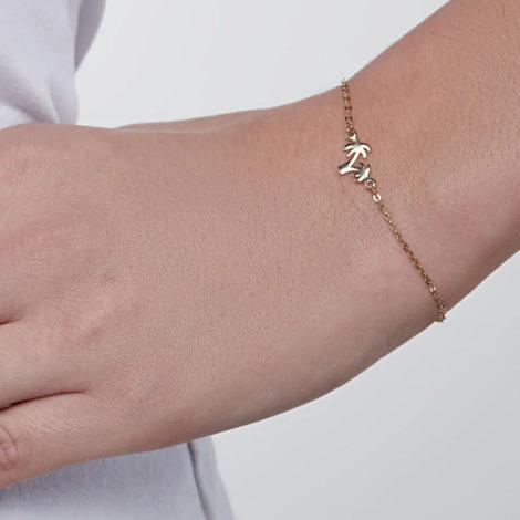 551659 pulseira coqueiros banhado a ouro colecao curacao blue marca rommanel loja revendedora brilho folheados foto modelo 1
