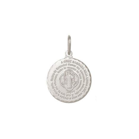 pingente oracao de sao bento em prata joia antialergica loja brilho folheados