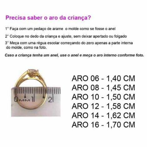 procedimento para tirar medido do dedo para compra anel brilho folheados