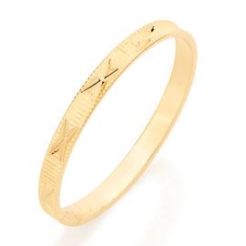 510027 alianca fina diamantada detalhe em x joia folheada ouro dourado marca rommanel loja revendedora brilho folheados 3