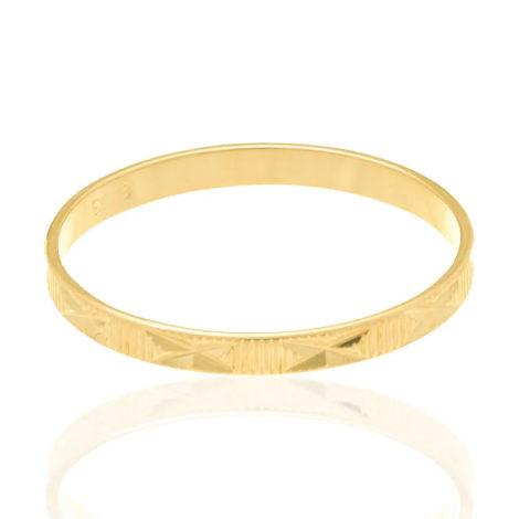 510027 alianca fina diamantada detalhe em x joia folheada ouro dourado marca rommanel loja revendedora brilho folheados 4