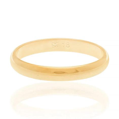 510152 alianca fina meia cana lisa polida 3mm de espessura joia folheada ouro dourado marca rommanel loja revendedora brilho folheados 5