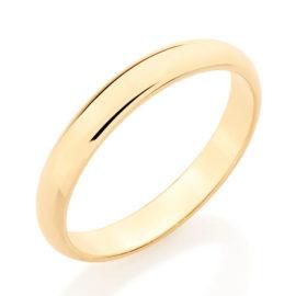 510152 alianca fina meia cana lisa polida 3mm de espessura joia folheada ouro dourado marca rommanel loja revendedora brilho folheados 6