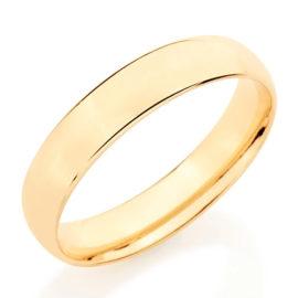 511026 alianca folheada ouro dourado anatomica lisa e polida 4mm de espessura marca rommanel loja revendedora brilho folheados 4