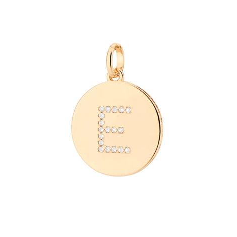 542135 pingente redondo com letra no centro cravejada por zirconias joia da marca rommanel loja revendedora brilho folheados