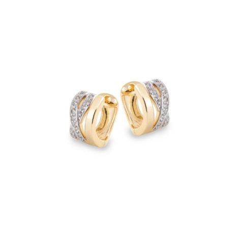 1680200 brinco argola pequena larga com zirconia folheado a ouro 18k marca sabrina joias loja revendedora brilho folheados 1