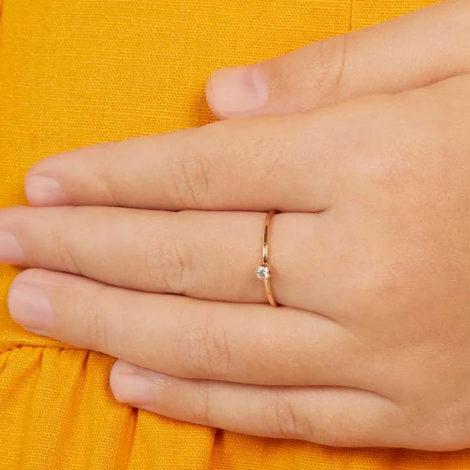 512808 anel fino solitario folheado ouro pedra zirconia branca rommanel loja revendedora brilho folheados 1