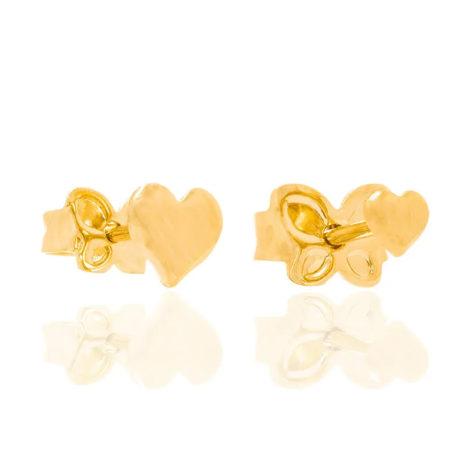 526221 kit brinco primeiro segundo furo formato de coração joia rommanel loja revendedora brilho folheados 4