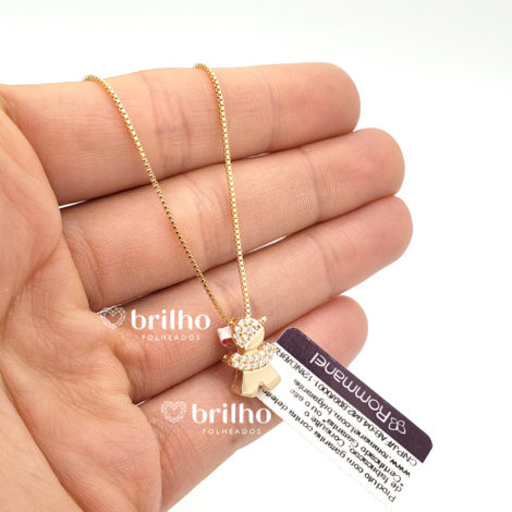 531310 542143 colar pingente filho menino cravejado com zirconias folheado a ouro 18k marca rommanel loja revendedora brilho folheados 5