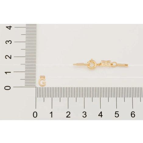 532041 gargantilha de nylon com pingente letra G marca rommanel loja brilho folheados 3