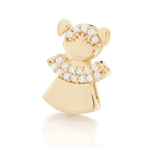 542142 pingente filha menina composto por 18 zirconias folheado a ouro 18k marca rommanel loja revendedora brilho folheados