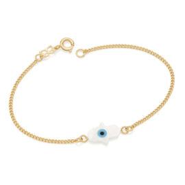 551647 pulseira elos pingente mao de fatima joia folheada ouro marca rommanel loja revendedora brilho folheados