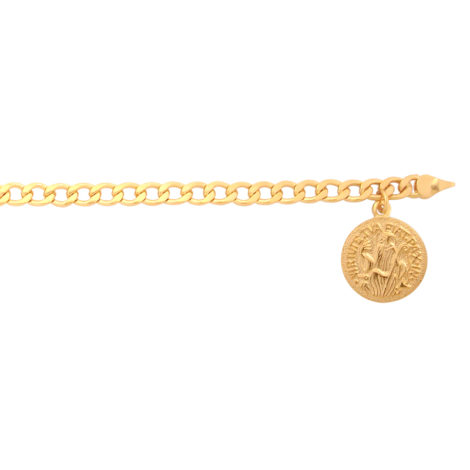 BP0225 pulseira elos com medalha de sao bento joia folheada bruna semijoias loja brilho folheados 3