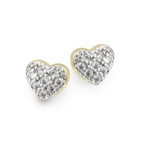 1679600 brinco no formato de coracao cravejado com zirconias e aplique em rodio marca sabrina joias loja revendedora brilho folheados