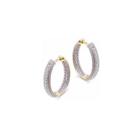 1690009 brinco argola pequena bipartida com zirconias cravejadas e aplique de rodio marca sabrina joias loja brilho folheados 1