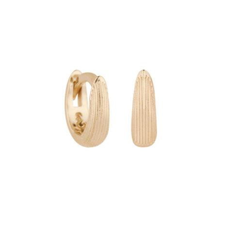 1690471 brinco mini argola pequena parte da frente escovada folheado a ouro 18k marca sabrina joias loja brilho folheados 1