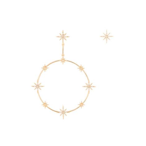 1690487 brinco uma argola constelacao de estrelas um brinco estrela solitaria marca sabrina joias loja brilho folheados 1