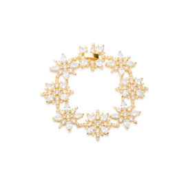 1700442 pulseira festa flor quadrada com zirconias joia folheada ouro marca sabrina joias loja brilho folheados 1