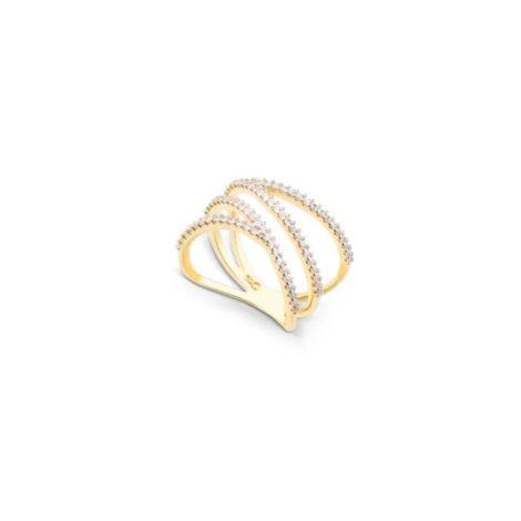 1910942 anel fios geometricos cravejado com zirconias brancas brilhantes marca sabrina joias loja brilho folheados 2