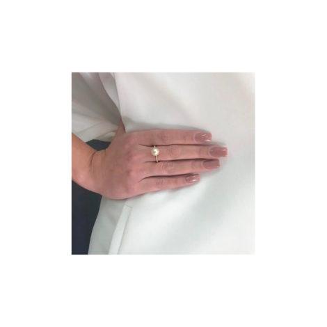 1911026 anel aro bolinhas com meia perola solitaria marca sabrina joias loja brilho folheados foto modelo 1