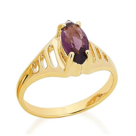 511181 anel de formatura zirconia navete facetada lilas com laterais do anel vazada joia rommanel loja revendedora brilho folheados