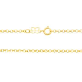 530610 corrente formada por fio elo portugues 50cm de comprimento joia rommanel loja brilho folheados 1
