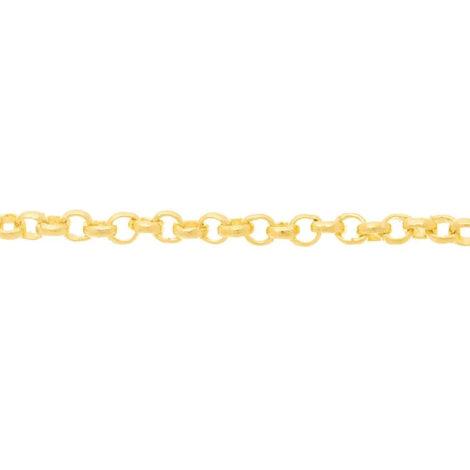 530610 corrente formada por fio elo portugues 50cm de comprimento joia rommanel loja brilho folheados 2