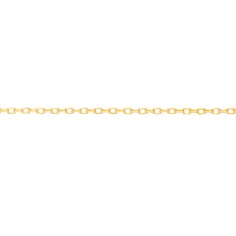 531638 gargantilha formada por fio cadeado fino com 42cm de comprimento marca rommanel loja revendedora brilho folheados 1