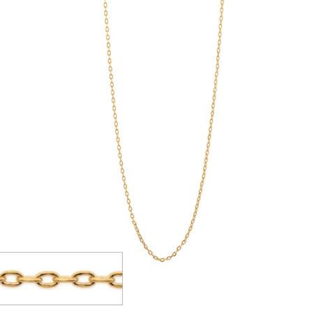 531638 gargantilha formada por fio cadeado fino com 42cm de comprimento marca rommanel loja revendedora brilho folheados 2
