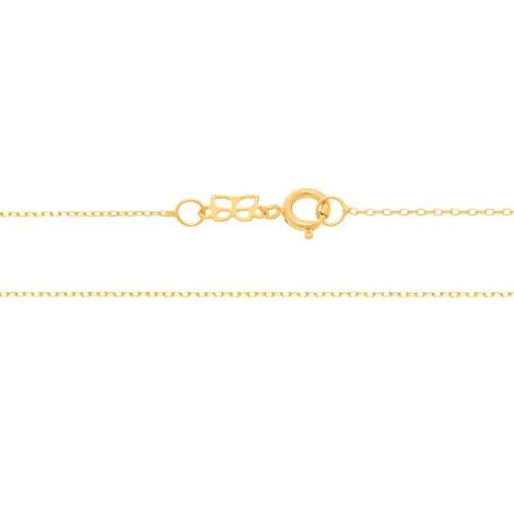 531638 gargantilha formada por fio cadeado fino com 42cm de comprimento marca rommanel loja revendedora brilho folheados