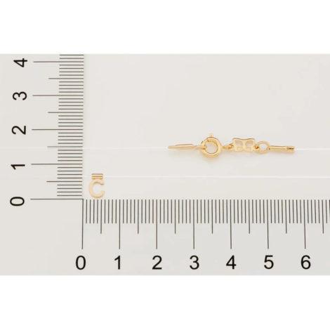 532041 gargantilha de nylon com pingente letra C marca rommanel loja brilho folheados 3