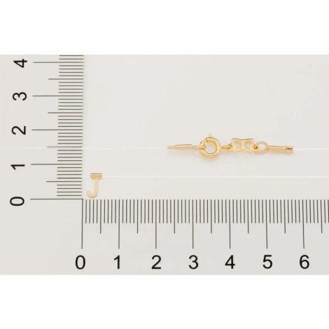 532041 gargantilha de nylon com pingente letra J marca rommanel loja brilho folheados 3