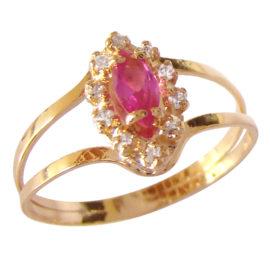 AB1339 cristal navete rosa com zirconias brancas ao redor marca bruna semijoias loja brilho folheados 2