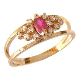 AB1340 cristal navete rosa com zirconias brancas ao redor marca bruna semijoias loja brilho folheados 2