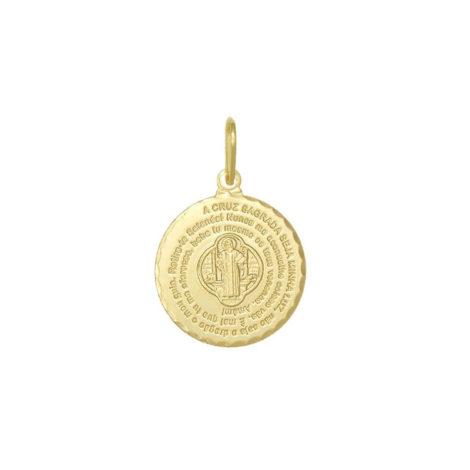 CPOSBCXV0120 pingente oracao sao bento com imagem no centro joia folheada ouro 18k loja brilho folheados 4