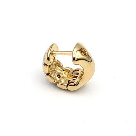 1652300 brinco argola pequena bipartida com losangos e zirconia joia folheada ouro 18k marca sabrina loja brilho folheados 1