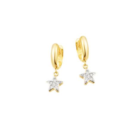 1667700 brinco argola com pingente estrela joia folheada ouro 18k marca sabrina joias loja revendedora brilho folheados