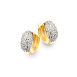1680000 brinco argola pequena desenho oval todo cravejado com zirconia branca e brilhante marca sabrina joias loja brilho folheados 1